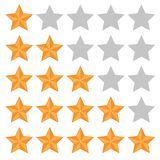 Five star rating. Different ranks Stock Image