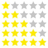 Five star rating. Different ranks Stock Photo