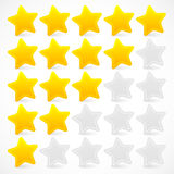 Five Star Rating Royalty Free Stock Photography