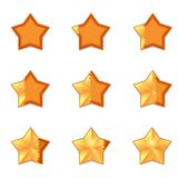 Five star rating. filling volume vector illustration