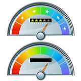 Five Star Rating Gauge. An image of a five star rating gauge royalty free illustration