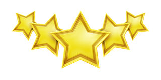 Five star rating service Stock Photo
