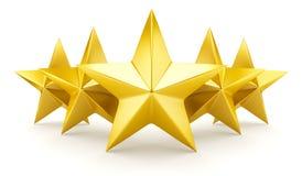 Five star rating Stock Photos