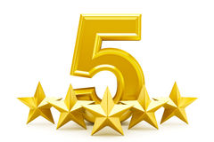 Five star rating royalty free illustration