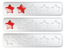Five star rating system. Royalty Free Stock Photos