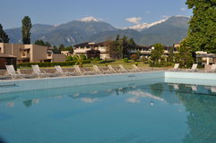 a five star resort pool greece Mount Olympus Royalty Free Stock Photography