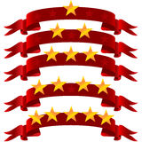 Five star  on ribbon Royalty Free Stock Photography