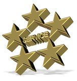 Five star service Royalty Free Stock Images