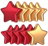 Five star service gold red golden leadership Stock Image