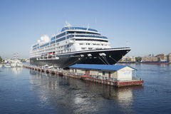A five-star ship Azamara Journey a summer morning. St. Petersburg Royalty Free Stock Images