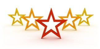 Five stars Stock Photography