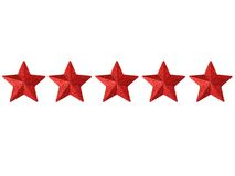 Five Stars. Five shining stars isolated on a white background Stock Image