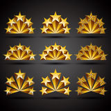 Five stars classic style icons. Stock Images