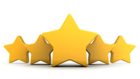 Five stars Stock Photography