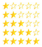 Five Stars Golden Stars Royalty Free Stock Image