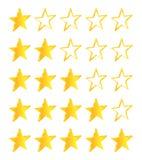 Five Stars Golden Stars Royalty Free Stock Image