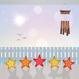 Five stars holidays. Illustration of five stars holidays stock illustration