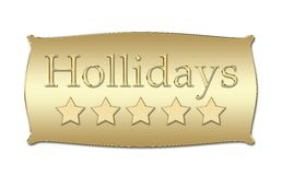Five stars Hollidays board Royalty Free Stock Image