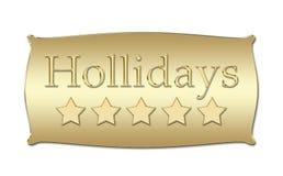 Five stars Hollidays board Royalty Free Stock Image