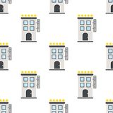 Five Stars Hotel Flat Icon Seamless Pattern Royalty Free Stock Photography