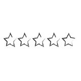 Five stars icon image Royalty Free Stock Photos