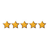 Five stars icon image Stock Images