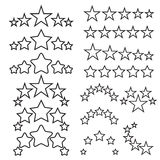 Five stars icons. Five-star quality icons. Five star symbols Royalty Free Stock Images
