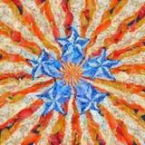 Five stars. Modern art. Five stars. USA trend royalty free illustration
