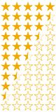 Five 5 stars product quality rating set icons, vector yellow flat stars with half hotels and wine, quality rating booking. Five 5 stars product quality rating vector illustration