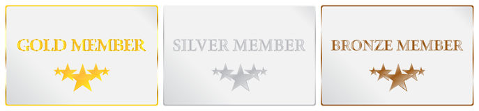 Five Stars Quality Member Card Stock Photo