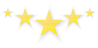 Five Stars. Quality Product Illustration Royalty Free Stock Photos