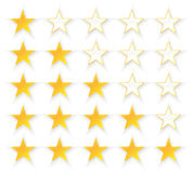 Five Stars Quality Set Stock Images