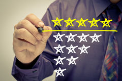 Five Stars Rate Stock Photography