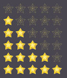 Five stars rating Royalty Free Stock Image