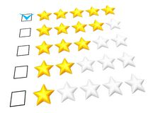 Five stars rating Stock Image
