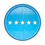 Five stars rating icon floral blue round button vector illustration