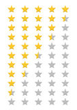 Five stars rating Royalty Free Stock Images