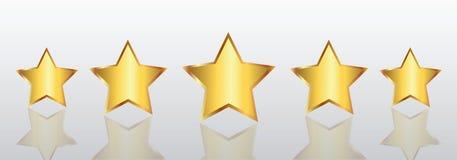 Five stars, rating signs, customer reviews - vector. Five stars, rating signs, customer reviews – stock vector stock illustration