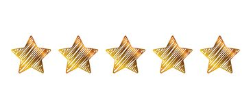 Five stars, rating signs, customer reviews - vector. Five stars, rating signs, customer reviews - stock vector royalty free illustration