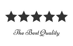 Five stars rating symbol of quality. Vector illustration Stock Photography
