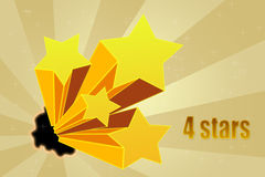 Five stars ratings Royalty Free Stock Photos