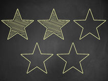 Five stars ratings Stock Image