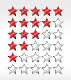 Five stars ratings web 2.0 button Royalty Free Stock Image