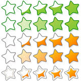 Five stars ratings web button Royalty Free Stock Photography