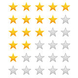 Five stars ratings. On white vector illustration Stock Photography