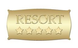 Five stars Resort board Stock Images