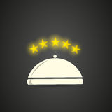 Five stars restaurant cloche Stock Photography