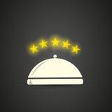 Five stars restaurant cloche Stock Photography