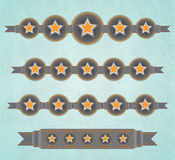 Five Stars ribbons Stock Photos