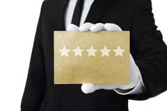 Five stars service Royalty Free Stock Images